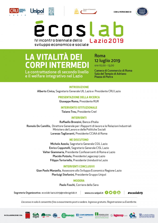 CRU unipol Programma Ecoslab - Roma 2019